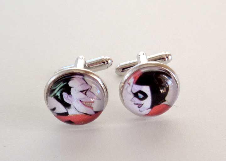 Batman Wedding Gift: Joker And Harley Quinn Cufflinks