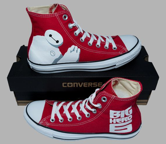 Hand Painted Converse Hi. Big Hero 6. Robot by GenuineTouchDesigns