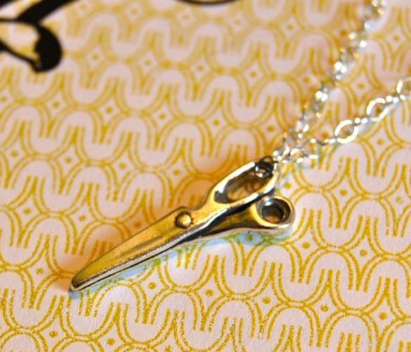 Silver Scissors Necklace - Uncovet.com