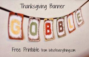 Free Thanksgiving Banner Printable #247moms