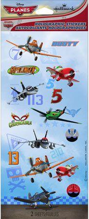 Disney Planes Holographic Stickers 2pk