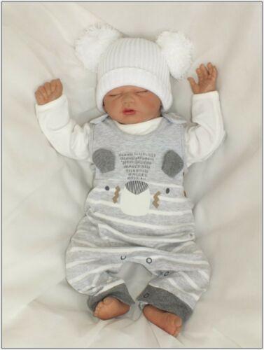 Baby Velour Nicki Unisex Einteiler Strampler gr 56 62 Warme Anzug Englandmode