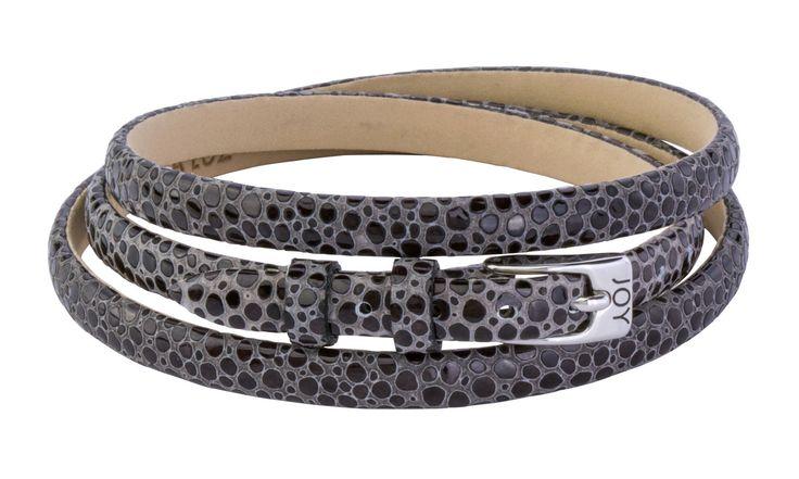 Joy de la Luz | Leather buckle bracelet stingray black