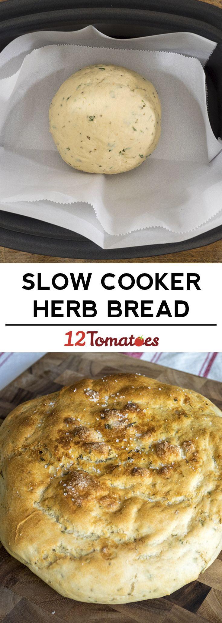 Slow cooker herb bread