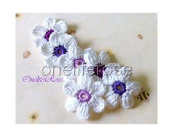 Crochet Flowers 12 pieces by OnelifeRosen on Etsy