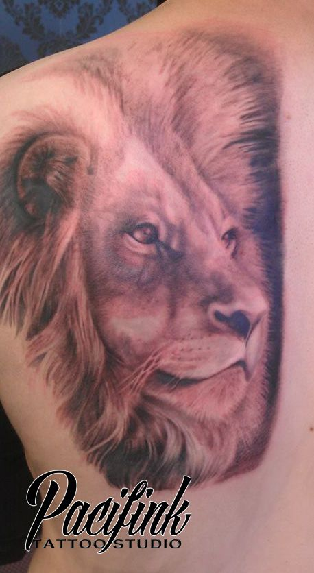 lion tattoo from Pacifink Tattoo
