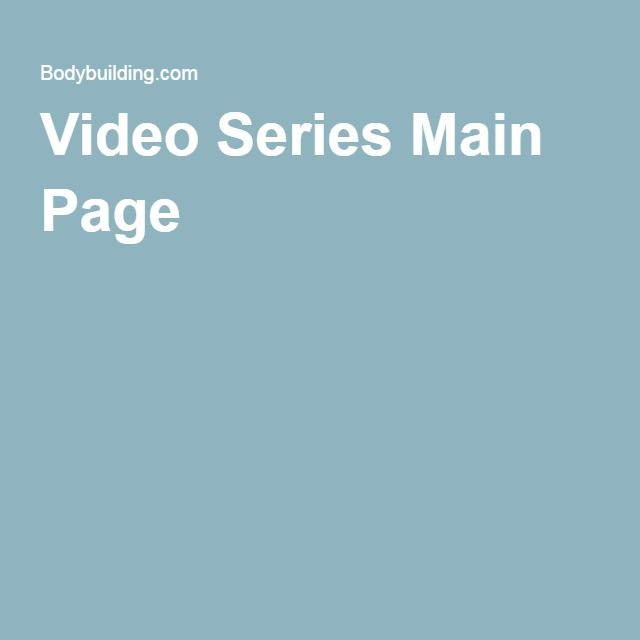 Video Series Main Page