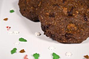 Duplán diós csokis keksz (cookie) ~ Receptműves