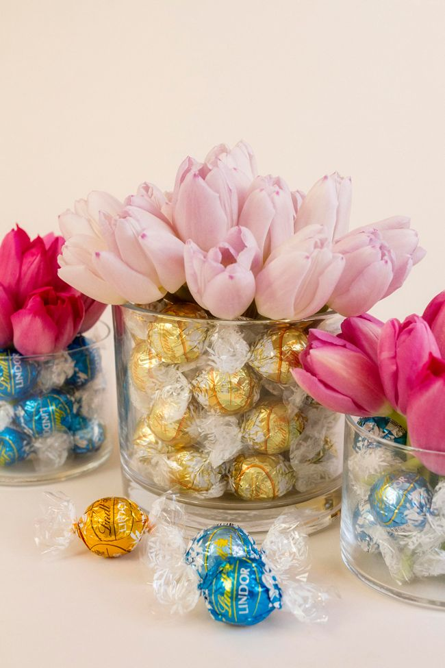 Wedding Centerpieces With Lindt Chocolate - Coastal BrideCoastal Bride