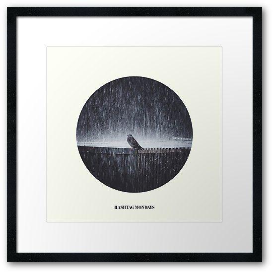 'Hashtag Mondays' Framed Print by HappyMelvin. #modays #artwork #photography #framedartprints
