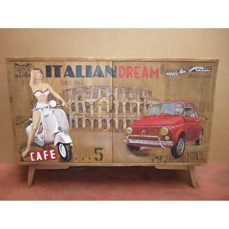 Credenza vespa e Fiat 500