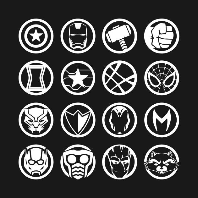 avengers character logos check out this awesome 'avengers+infinity+war+heroes+icon