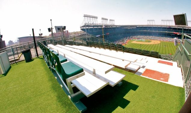 Watching a Cubs game from the rooftops is a one-of-a-kind experience. Just outside of Wrigley Field but with all the creature comforts you can ask for.