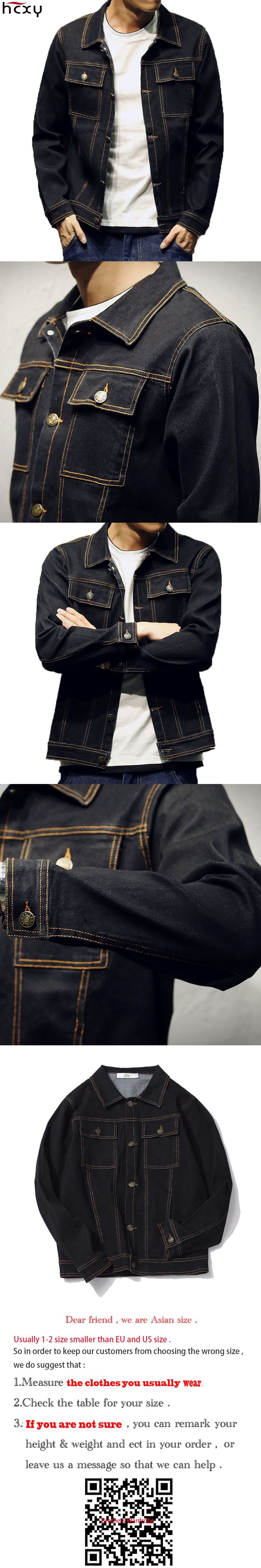 HCXY Brand Clothing 2017 Ripped Oversized Denim Jacket Men Men's Jeans Jackets Spring And Autumn Male Coat Ancient Straight