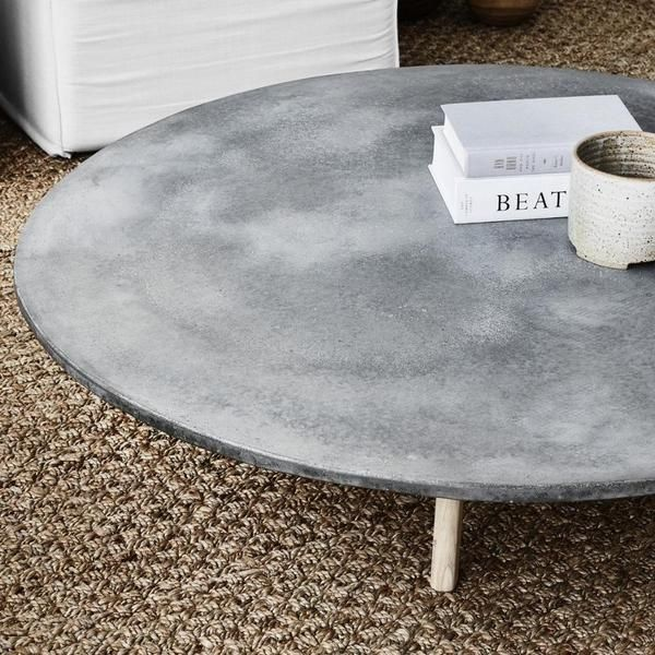 Round Concrete Low Coffee Table Coffee Table Low Coffee Table