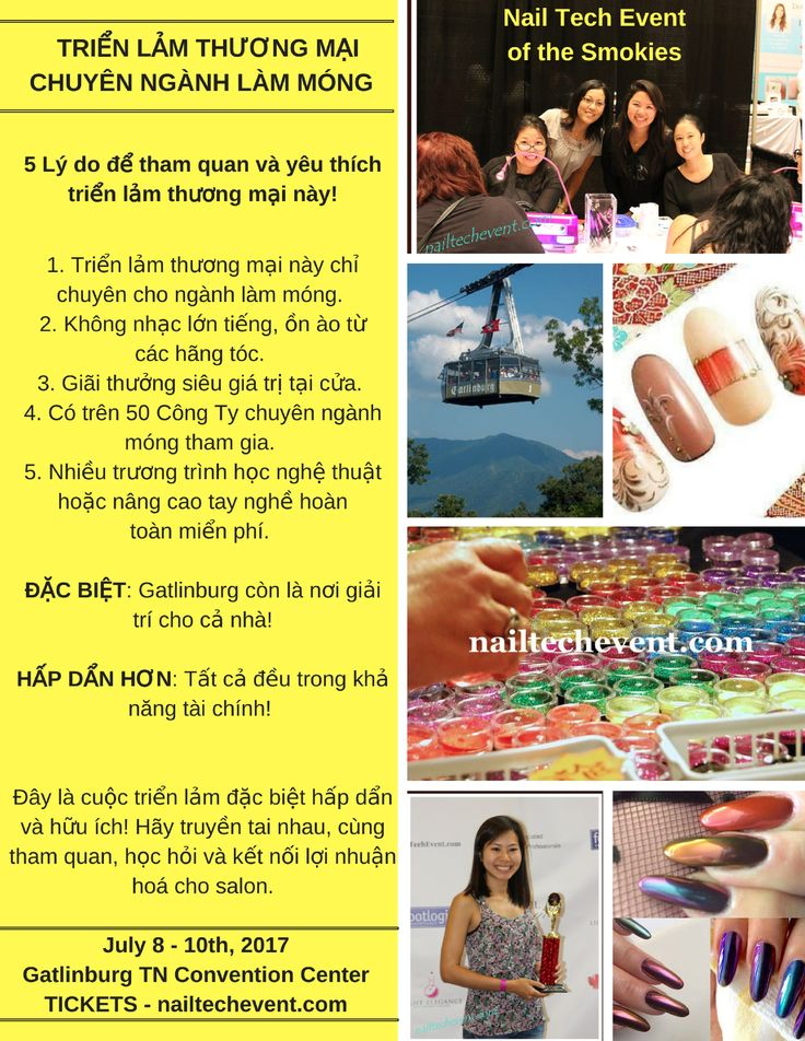 Thanks to Christine Le, owner of Christrio, for helping translate our Event info into Vietnamese so that more nail techs can enjoy the show! www.nailtechevent.com #nailtechevent #nailart #gatlinburg