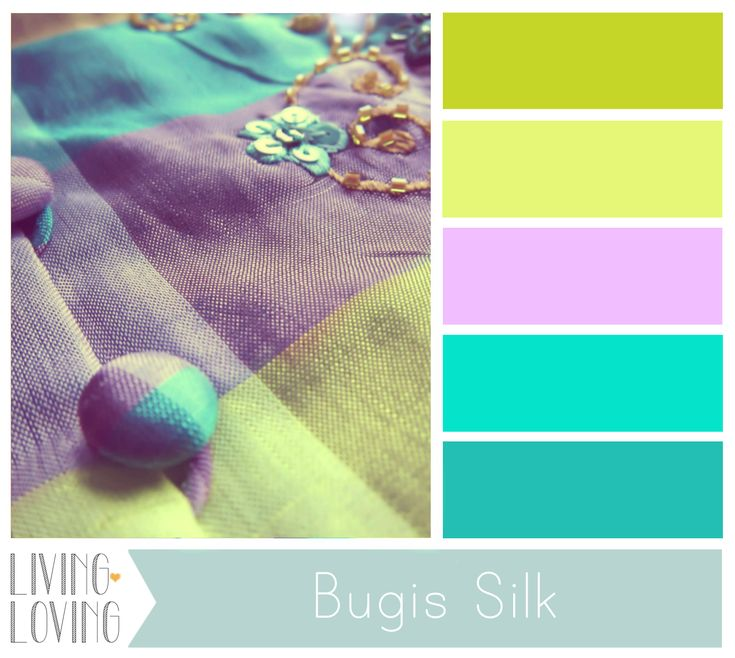 wedding aqua color palette | COLOR PALETTE: BUGIS SILK | Living Loving.  these colors are so fresh, there has to be some project I can incorporate them!