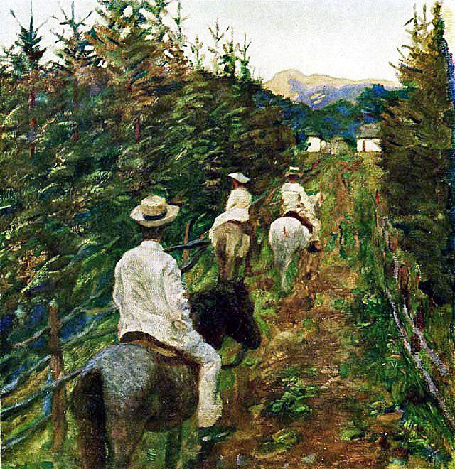 Ferenczy Károly Hazatérés/ Lovasok a Kráncsfalusi Izvorán / Hazatérő lovasok , 1905