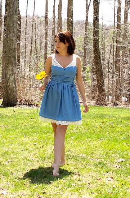 GREAT way to add straps to a strapless dress!!!