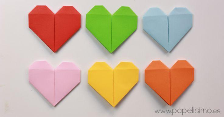 como hacer corazon de papel origami san valentin