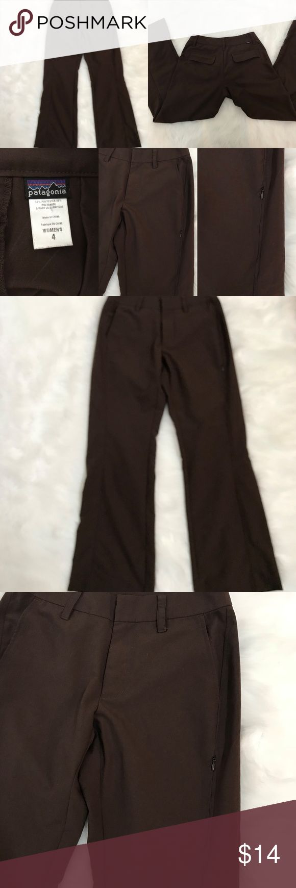 "Patagonia Womens Pants Brown sz. 4 Beautiful Brown Womens Patagonia Pants.  Comfort and size 4 Waist 28"" Rise 8.5"" Inseam 29"" Patagonia Pants"