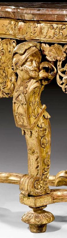 Gold furniture leg