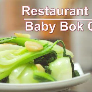 Garlic Stir Fry Baby Bok Choy Recipe.
