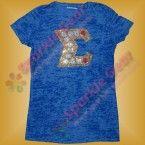 sparkle gear bling sorority sigma Gama Rho with circles blue tee shirt rhinestone custom