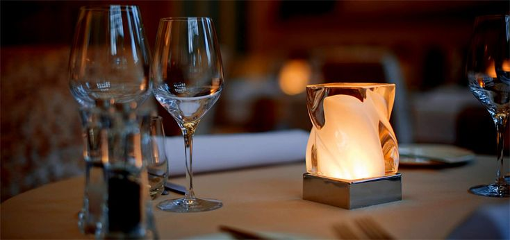 Elegant Cordless Table Lighting For Restaurants Hotels