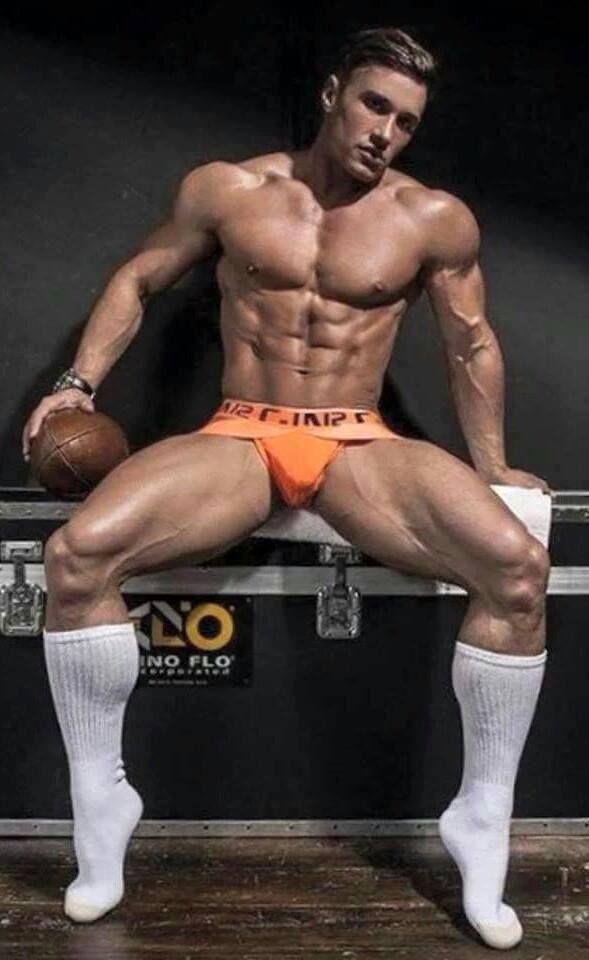 Athletic Dude Creams Hunk