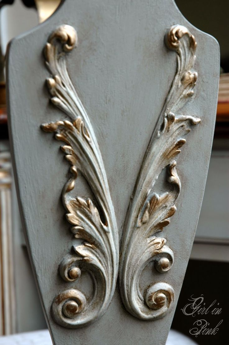Create one of a kind pieces by adding beautiful appliques to ordinary furniture,