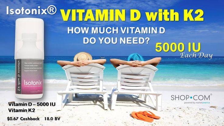 You need 5000 IU vitamin D.