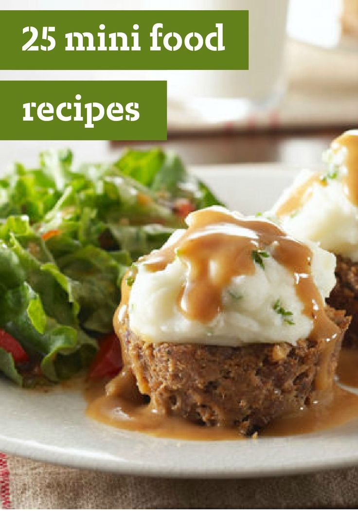 25 Mini Food Recipes – These recipes include everything from cheeseburger sliders to mini meatloaves, stuffing cups, and pita pizzas—making them perfect appetizers for game day. And for dessert, think mini cheesecakes, cupcakes, cookie balls, and two-bite-brownies. Try any one of these sweet or savory recipes and see for yourself—these little bites will get you big compliments!