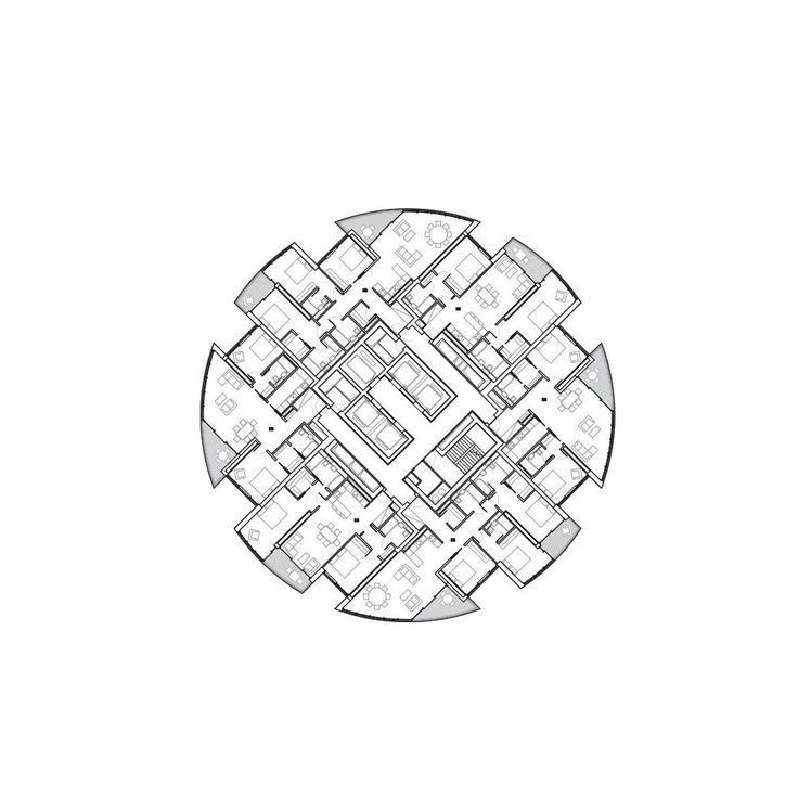 Herzog & de Meuron . One Wood Wharf . London (11) #arquitectura #dibujos #plantas #herzog & de meuron