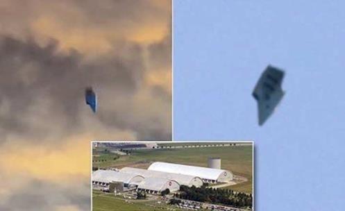 Bizarro UFO capturado Flutuando entre as Nuvens perto de Base Militar dos EUA em Ohio