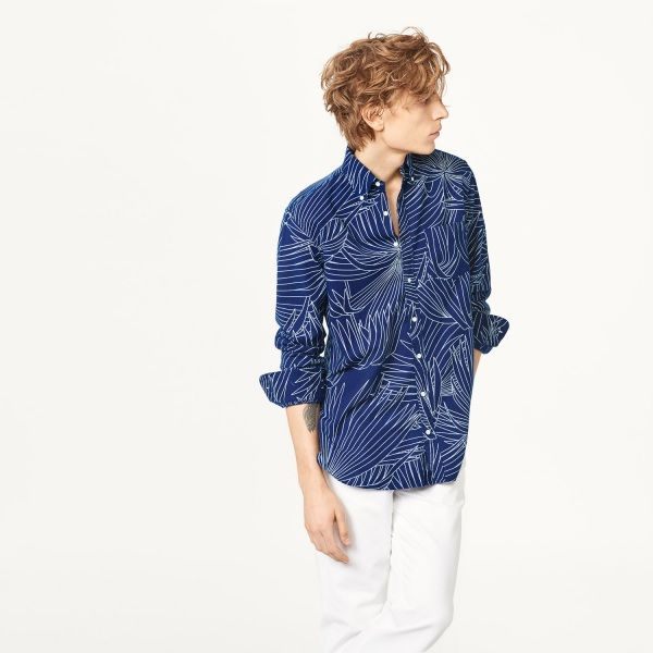 Indigo Palm Long Shirt