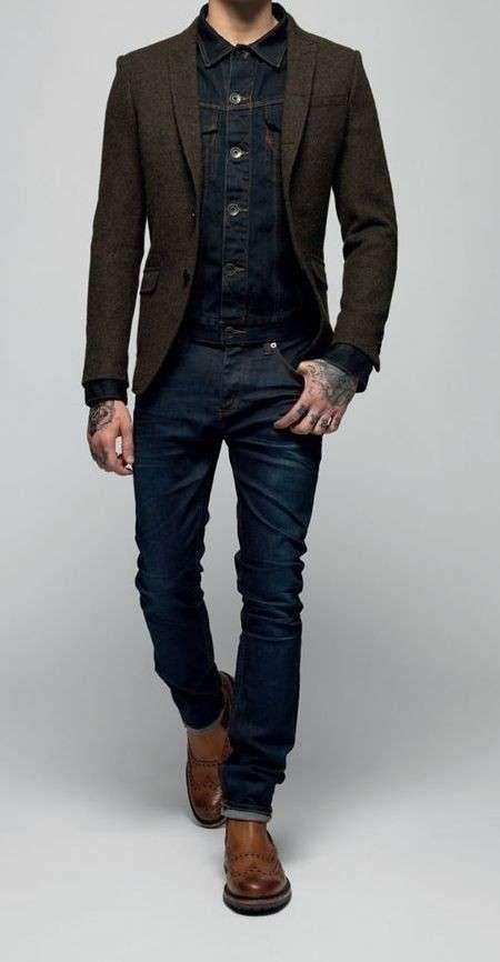 Scegliere jeans da uomo - Giacca e pantalone in denim