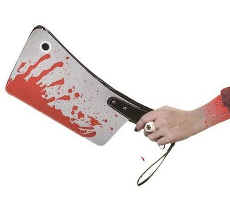 You're probably going to want to pick and choose when you wear the above Kreepsville 666 Bloody Cleaver Clutch Bag.