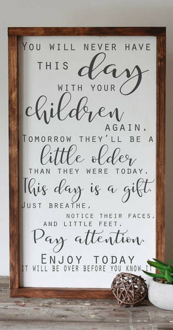 Oh so true – they're only little for such a short … – #farmhousedecor #Short