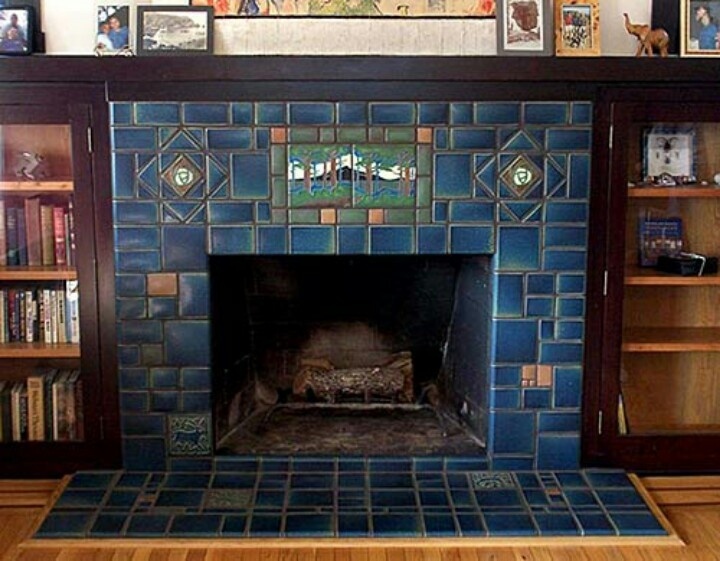 Mission style fireplace