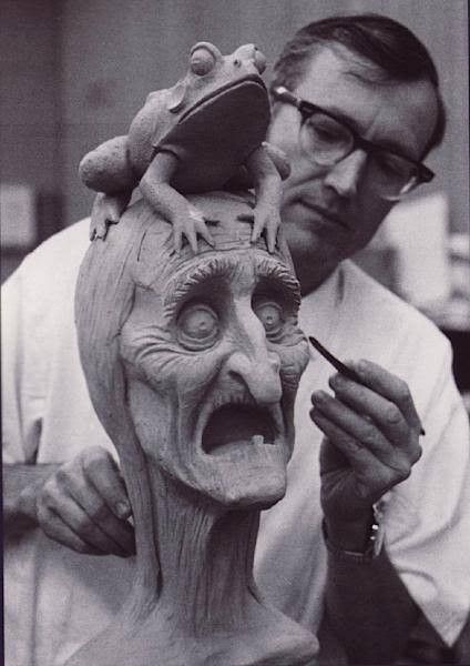 Blaine Gibson joined the Disney Studio in 1939 as an animator. Over the next fifteen years, he worked as an animator on most of the studio's most famous projects, includingFantasia,Bambi,Song of the South,Alice in Wonderland,Peter Pan,Sleeping Beauty, and101 Dalmatians.