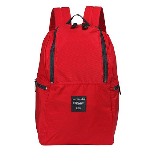 Phones, tablets, laptops; we have a lot to carry these days, and this travel veteran can accommodate it all.  Marimekko Metro Roadie Red Backpack