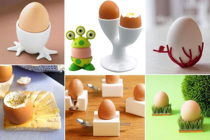 Cuenquitos para huevos pasado por agua de diferentes formas