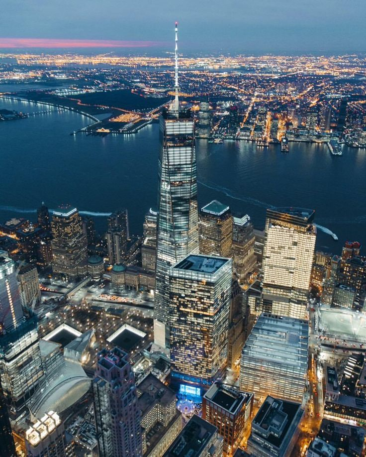 One World Trade Center at night by @erwnchow - The Best Photos and Videos of New York City including the Statue of Liberty, Brooklyn Bridge, Central Park, Empire State Building, Chrysler Building and other popular New York places and attractions.