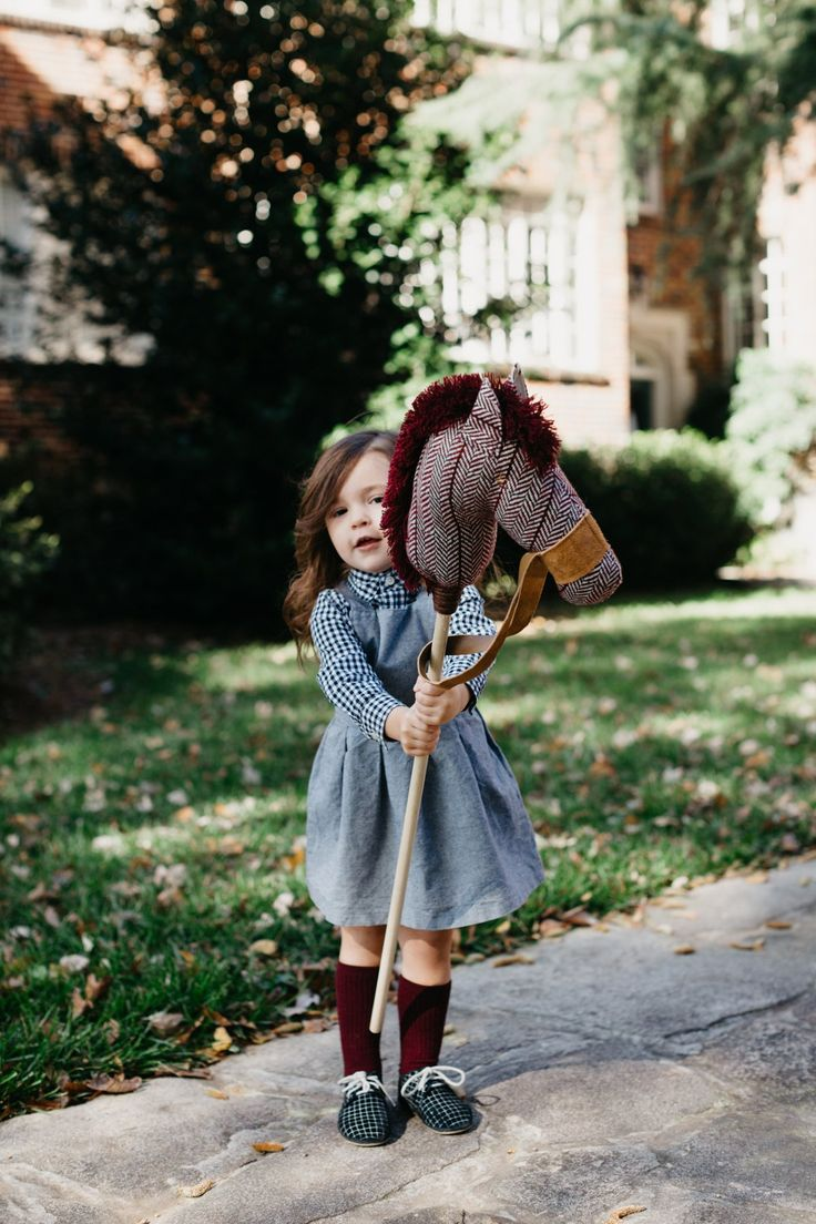 the Winter Stick Horse in Maroon