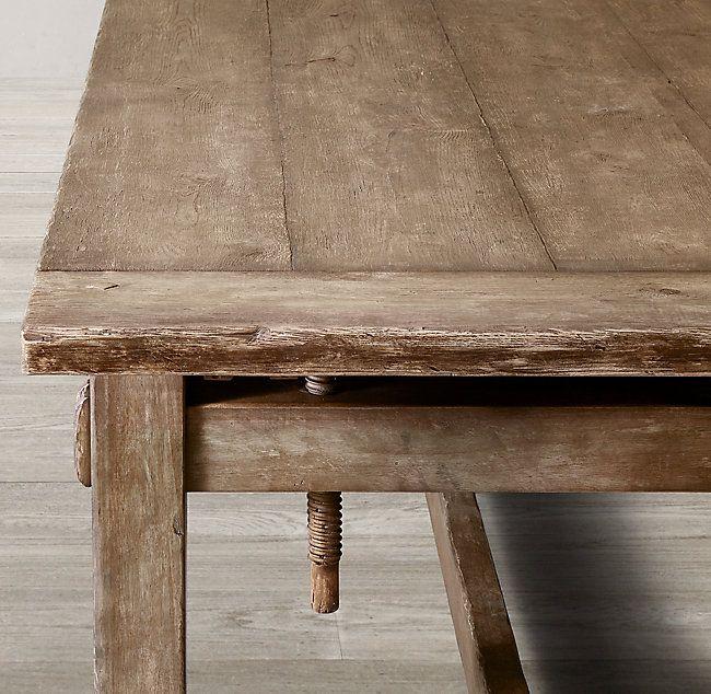 42++ Vintage oak dining table Top