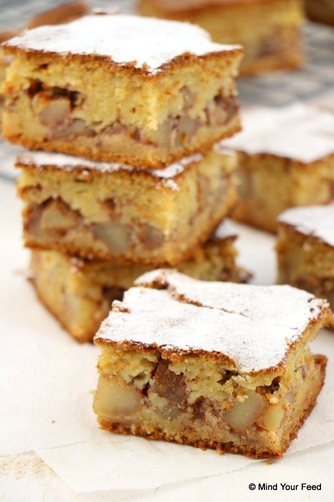 Appel kaneel cake - Mind Your Feed (gemaakt: alleen havermeel gebruikt, waardoor hij totaal niet op het plaatje leek, maar wel erg lekker was)