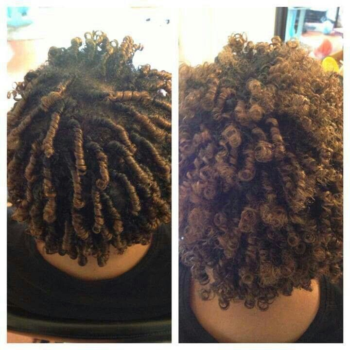 These styles never seem to work on my hair, but i'll try it anyway b/c this is cute--- Finger Coils!