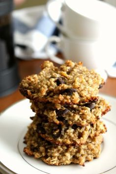 Healthy Oatmeal Banana Chocolate Chip Cookies