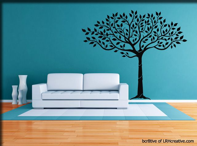 Lady Fingers Tree - Wall Decal - This was my first wall decal and I have it in my Living Room in black and LOVE it!